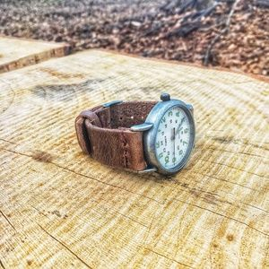 Horween leather Timex Watch with Leather Band